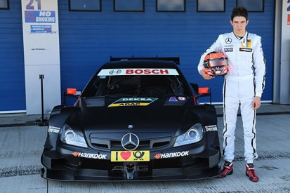 Lotus F1 reserves Charles Pic and Esteban Ocon test DTM Mercedes