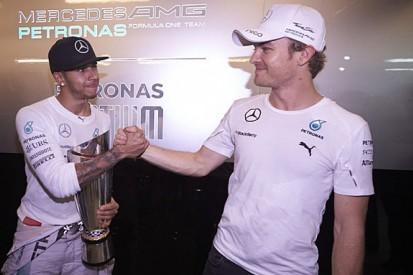 F1 champion Lewis Hamilton says tension with Nico Rosberg gone