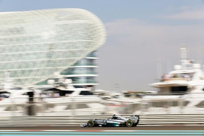 Abu Dhabi GP: Nico Rosberg heads Lewis Hamilton in final practice