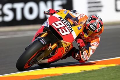 Valencia MotoGP: Marc Marquez leads practice three despite crash