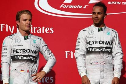 F1 USGP: Nico Rosberg struggled to find rhythm with Lewis Hamilton