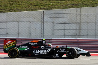 US GP: Sergio Perez punished for 'reckless' crash with Adrian Sutil