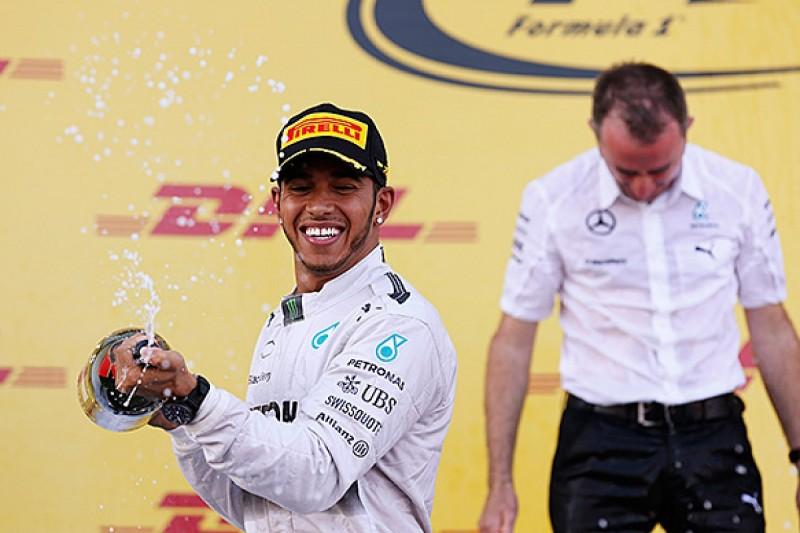 Russian GP: Lewis Hamilton cruises to win as Mercedes takes title