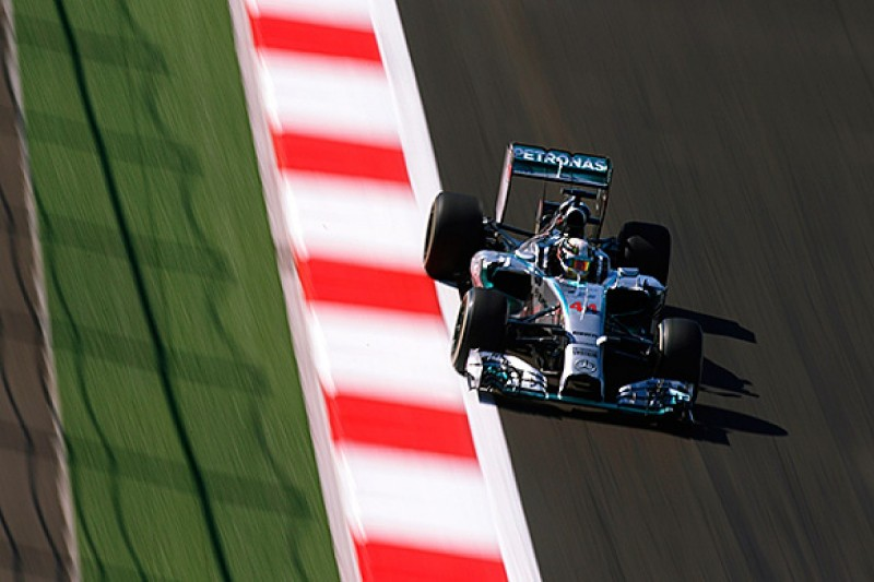 Russian GP: Lewis Hamilton ends second practice on top