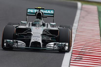 Japanese GP: Rosberg tops final practice as Hamilton crashes