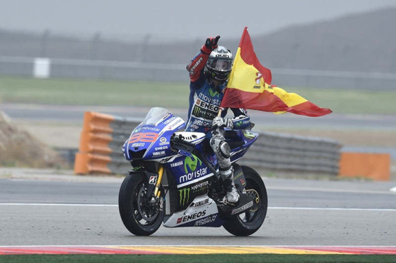 Aragon MotoGP: Lorenzo wins crazy race as Marquez crashes again