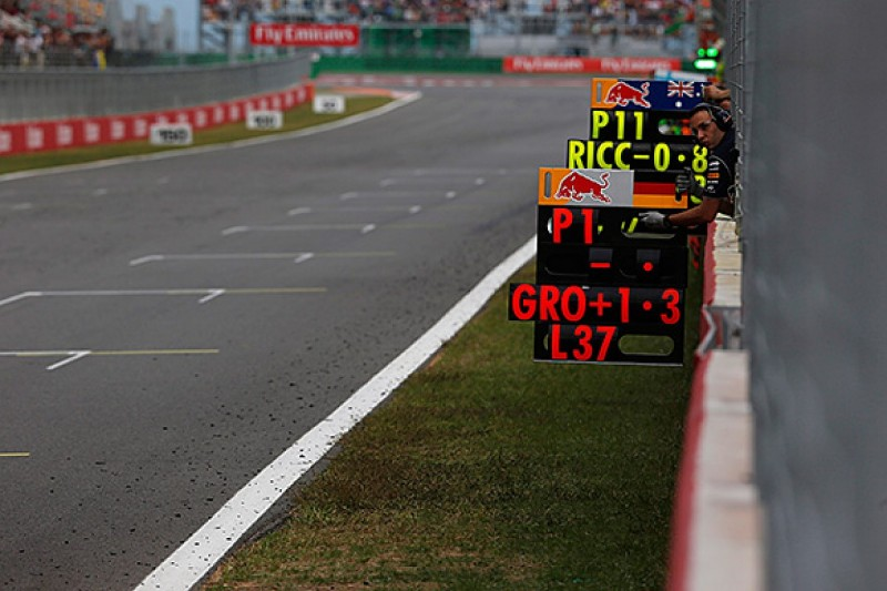 Team radio clampdown extends to Formula 1 pit boards