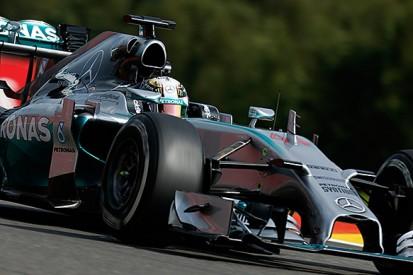 Belgian GP: Lewis Hamilton tops the times in second practice