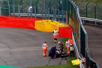 Belgian GP: Pastor Maldonado 'unlucky' in practice accident