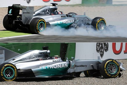 German GP: Brake disc failure caused Hamilton crash