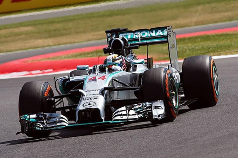 British GP: Lewis Hamilton tops practice before Mercedes fails