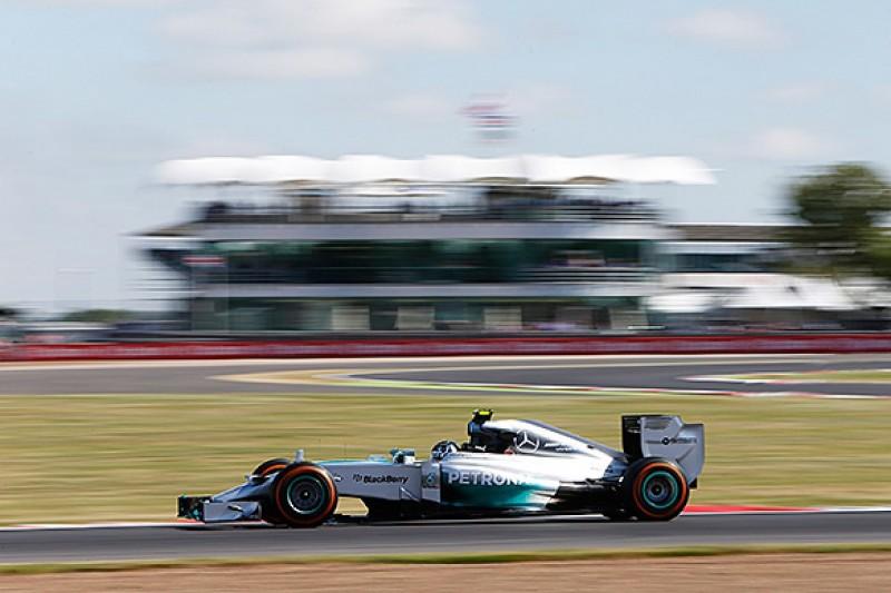 British GP: Rosberg edges Hamilton in first practice