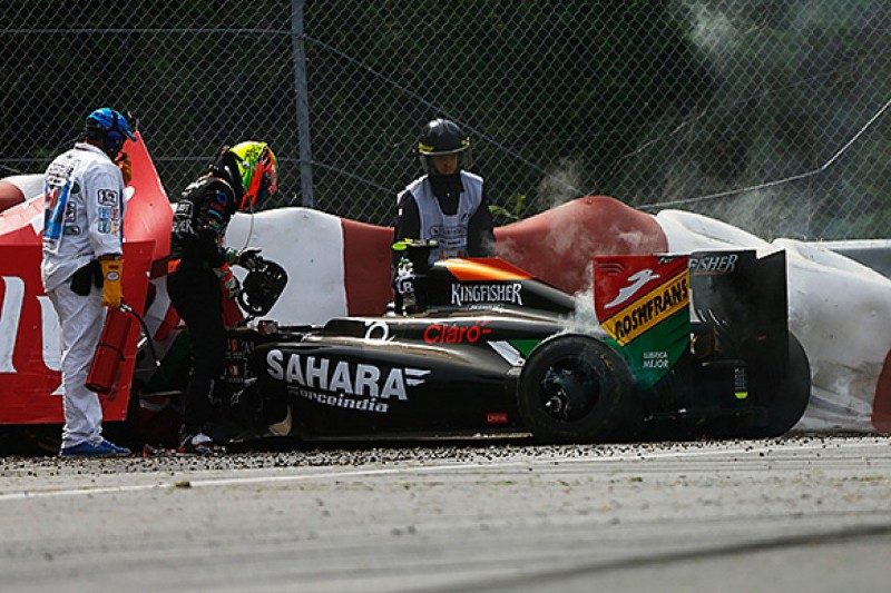 Rob Smedley and Sergio Perez in row over Canadian GP accident