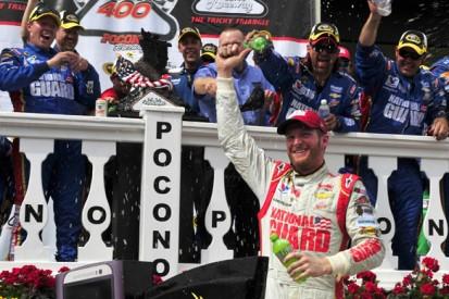 Pocono NASCAR: Dale Earnhardt Jr grabs last-gasp win