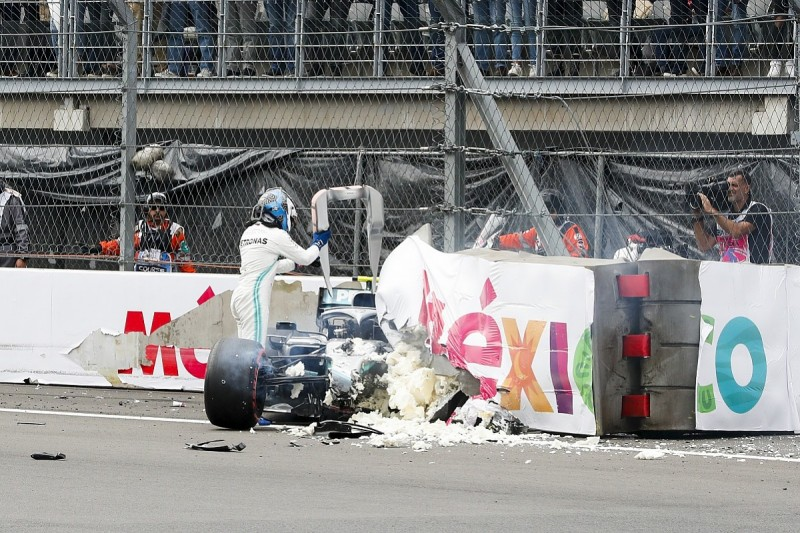 FIA to review Mexican GP F1 barrier where Mercedes' Bottas crashed