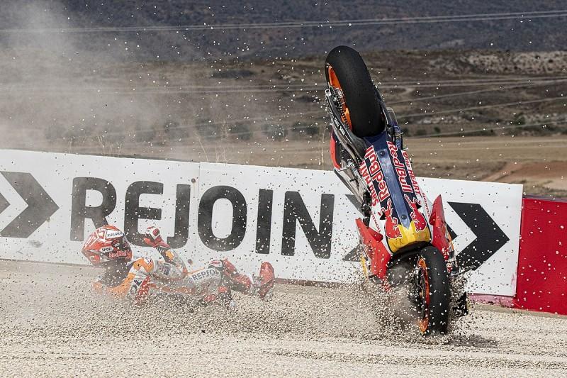 Honda's Marquez wanted to risk MotoGP Aragon free practice crash