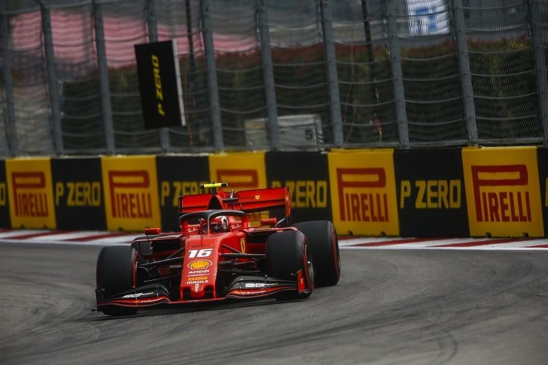 Russian Grand Prix practice: Ferrari's Leclerc edges Verstappen