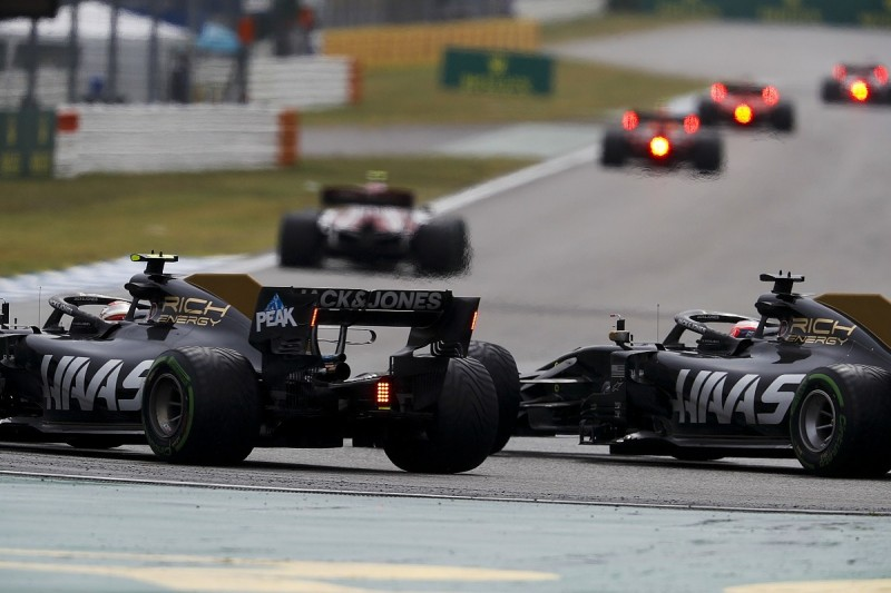 Haas could impose team orders on Grosjean/Magnussen amid collisions