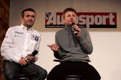 McNish and Minassian on stage at Autosport International