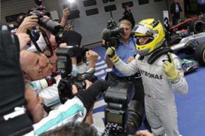 Rosberg ends Mercedes' long wait for glory