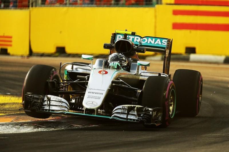 Mercedes' suspension under the spotlight again