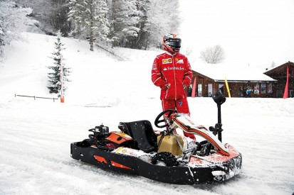 Karting on snow with Raikkonen
