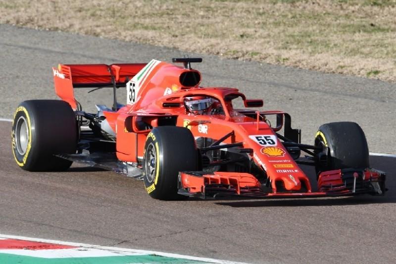 Erste Formel-1-Runden im Ferrari: Sainz testet SF71H in Fiorano
