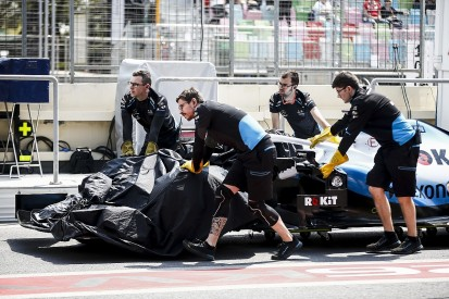 """George Russell to miss Baku practice two as drain """"split"""" chassis"""