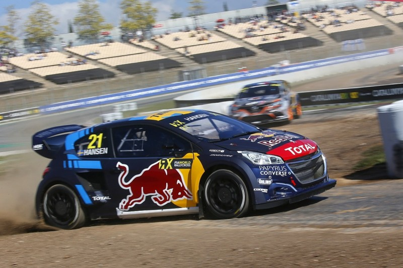 Peugeot driver Timmy Hansen leads World RX opening day in Barcelona