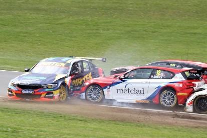 Andrew Jordan taken to hospital after Donington Park BTCC crash
