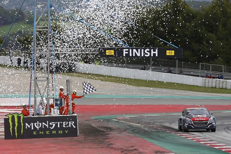 Timmy Hansen dominates Barcelona World Rallycross round for Peugeot