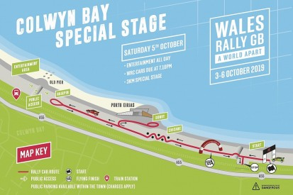 New street stage in Colwyn Bay for WRC event Wales Rally GB
