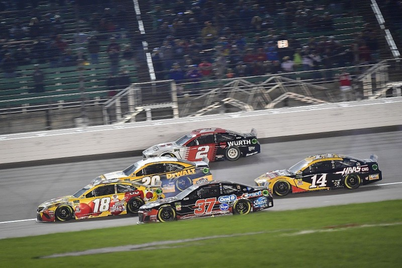 """Bowyer and Jones in post-race spat over """"dumb"""" NASCAR Kansas move"""
