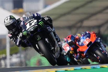 Le Mans MotoGP: Maverick Vinales leads crash-filled practice