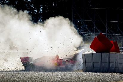 F1 test crash damage hampers Ferrari in finding cause - Vettel