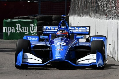 Rosenqvist drove much of IndyCar debut one-armed due to trapped nerve