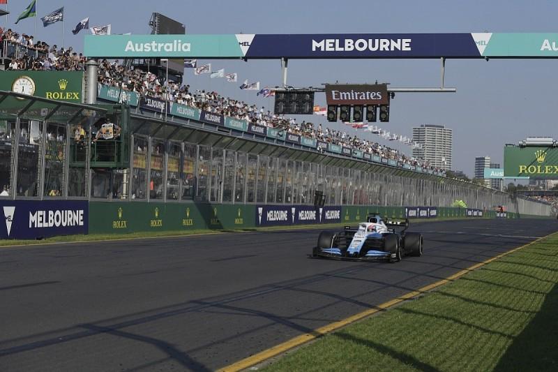 Russell only saw Australian GP F1 start lights through reflection