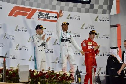 Bahrain GP: Hamilton wins as long-time leader Leclerc loses power