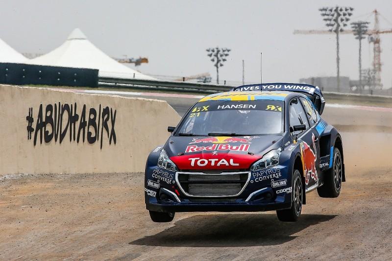Abu Dhabi World Rallycross: Timmy Hansen leads day one