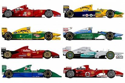 Michael Schumacher's F1 cars ranked: Ferrari, Benetton, Jordan & more