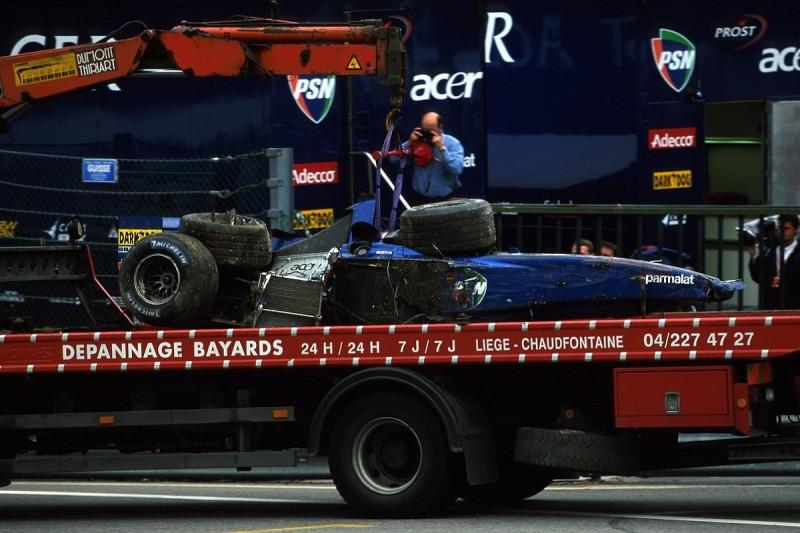 Burti: Senna safety improvements saved me in 2001 Belgian GP crash