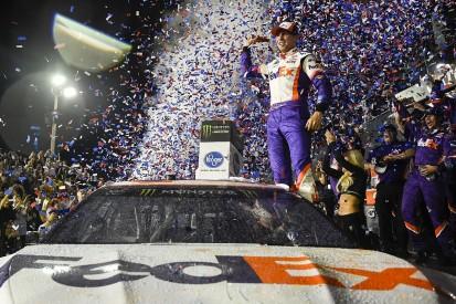 NASCAR Daytona 500: Denny Hamlin leads Joe Gibbs Racing 1-2-3