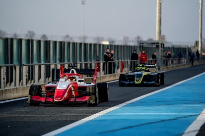 FIA F3 field drives new 2019 car for the first time in a shakedown