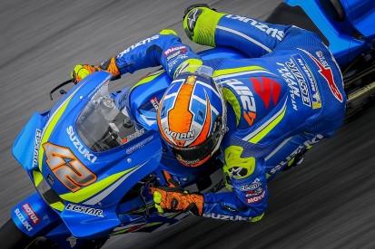 MotoGP Malaysia: Rins set fastest FP2 time on pitlane fire bike