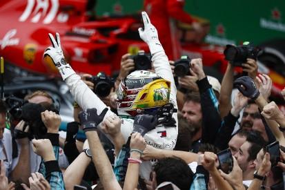 Brazilian GP: Hamilton wins after Ocon spins leader Verstappen