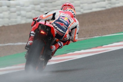 Valencia MotoGP: Marc Marquez fastest in delayed, wet practice one