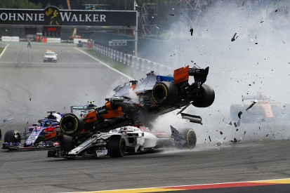 Halo saved Charles Leclerc from visor strike in Spa start crash