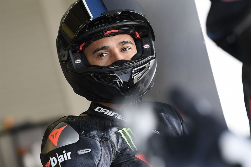 F1's Lewis Hamilton told to 'go a bit slower' in superbike test