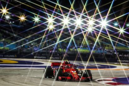 Singapore GP F1 practice: Raikkonen fastest, Vettel hits wall in FP2