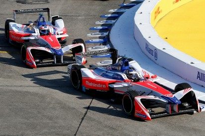Heidfeld struggled to deal with Rosenqvist's pace in Formula E